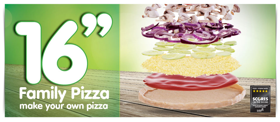16'' Family Size Pizza - Make your own pizza!