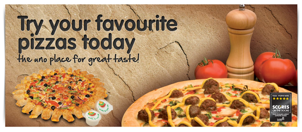 Try your favourite pizzas today!