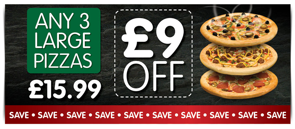 Pizzas Saver Deal - £9 OFF!